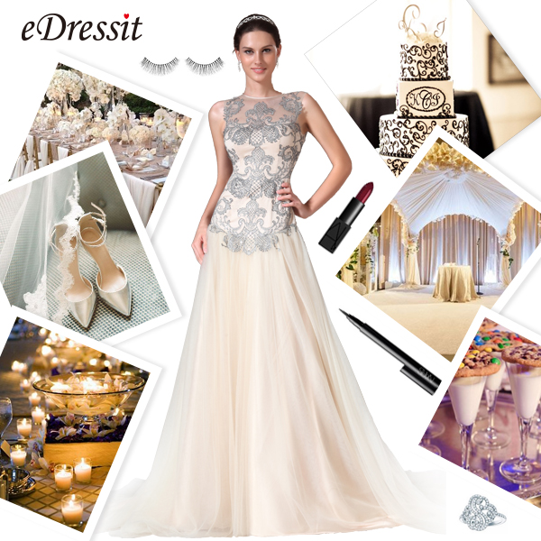 32cc941d68f46 Embroidery Wedding Gown